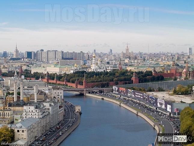 Вид на Кремль с высотного дома на Котельнической набережной. Автор: Илья Пелымский
